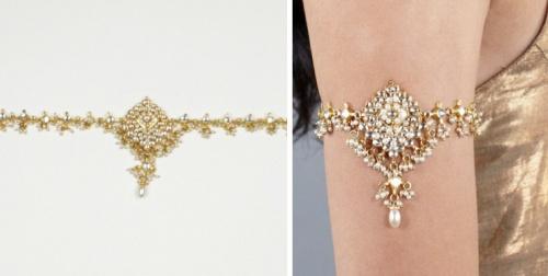 Kundan and Pearl Armband by Luxemi