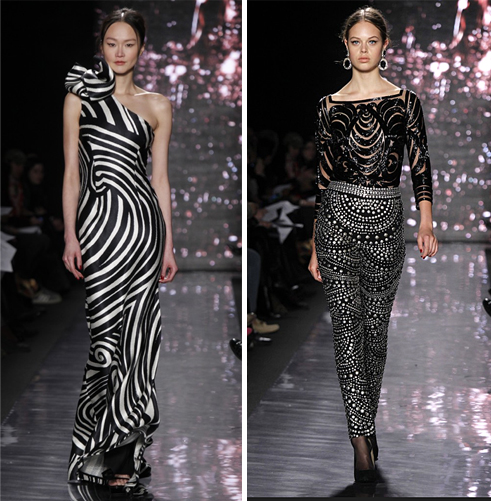 2012 Standout Looks Naeem Khan Striped Dress