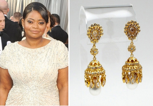 Octavia Spencer jhumka earrings 84th Annual Academy Awards