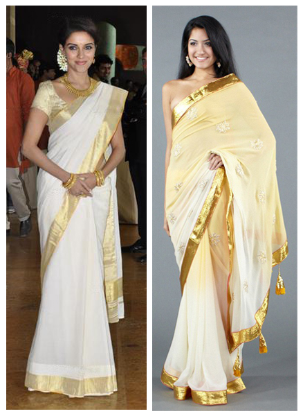 Asin and Luxemi Nikasha Saree