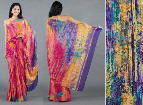 Gorgeous saree spring 2012 fashion trends kalamkari work