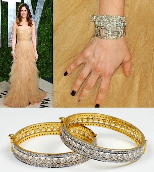 2012 Oscars 1920s inspired jewelry bangles bracelets Bridesmaids