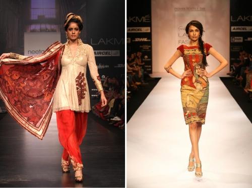 Gorgeous kalamkari work sarees from runway shows