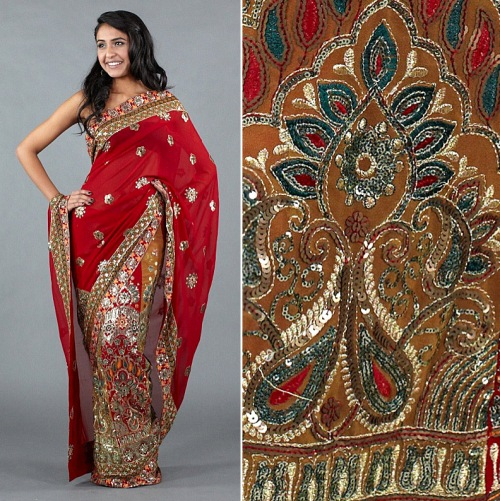 designer saree high quality embellishments