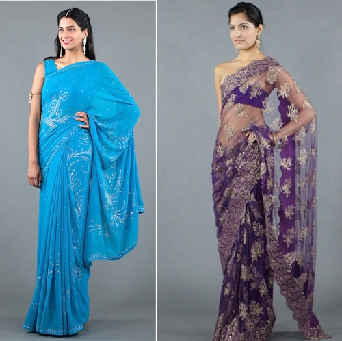 sarees with swarovski crystals