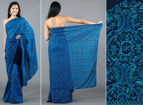 high quality sarees are hand embroidered not made by a machine
