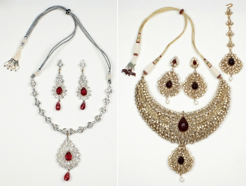 inexpensive designer jewelry to rent for Indian wedding saree tikka