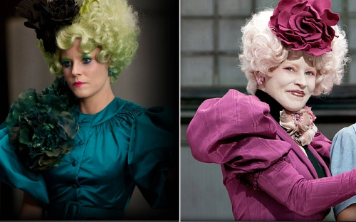 Effie inspired avant-garde Hunger Games sarees