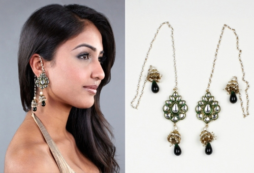Kashmiri earrings high fashion Indian jewelry celebrity trends