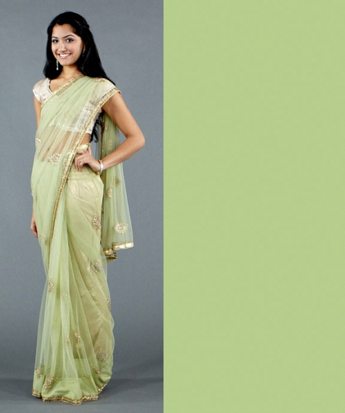 Indian saree or salwar in spring 2012 trendy colors