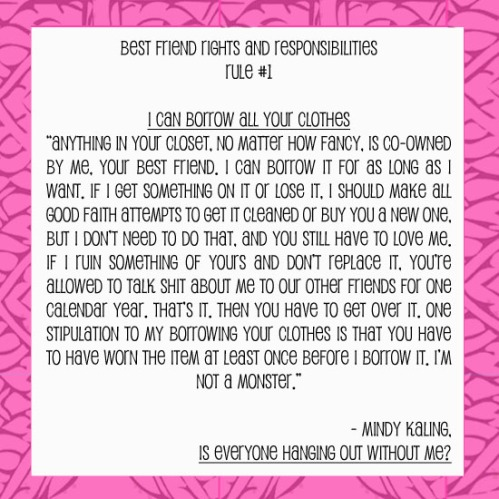 Mindy Kaling Best Friend Fashion Quote Luxemi