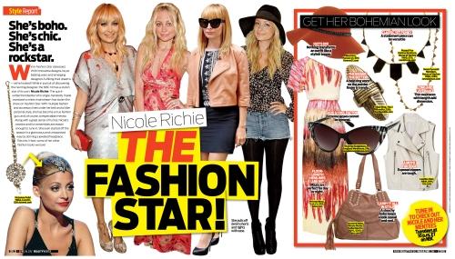 Luxemi Indian Fashion in OK! Weekly 4-4-12