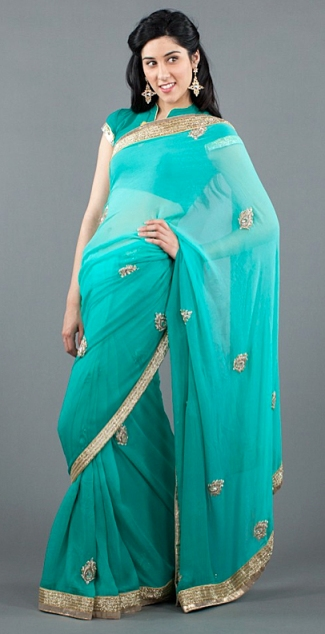 Spring 2012 celebrity trends Indian inspired dresses turquoise