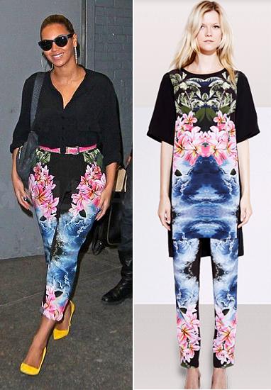 Stella McCartney florals Hawaiian print celebrity trend pants