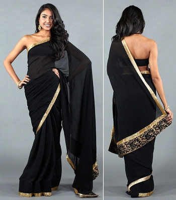 Rihanna influenced Indian style Tom Ford saree
