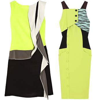 neon yellow designer dresses celebrity fashion 2012