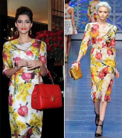 Designer fashion Indian florals 2012 celebrity runway trends