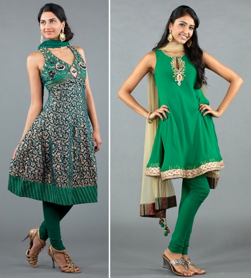 Emerald green salwars spring 2012 celebrity trend