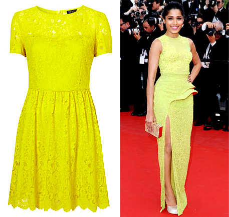 neon yellow celebrity inspired indian fashion