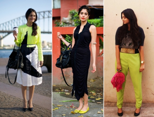 New Dehli street style bold colors India