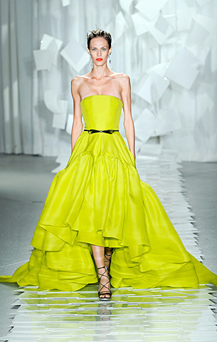 neon colors runway trend