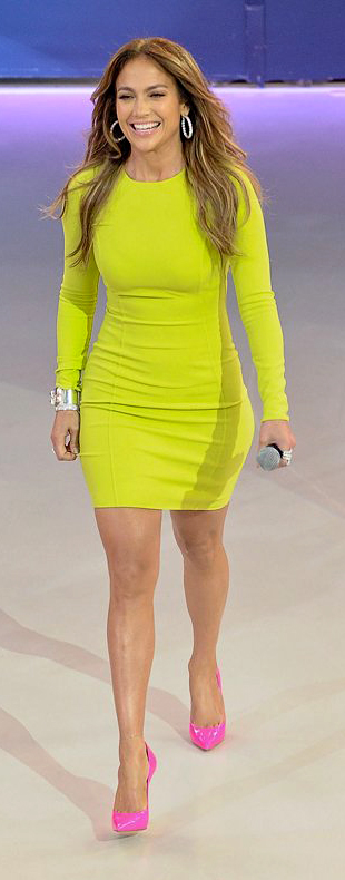 neon yellow dress trend American Idol J Lo