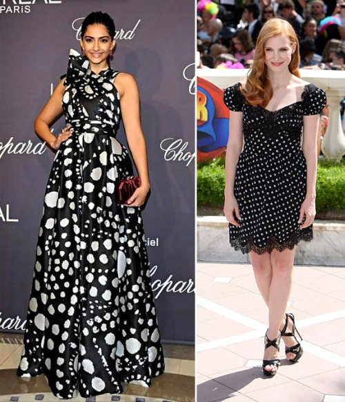 summer 2012 trends polka dots celebrity