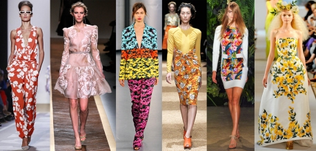 Indian inspired floral looks from runway designers 2012