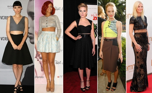 celebrities midriff shirts indian blouses