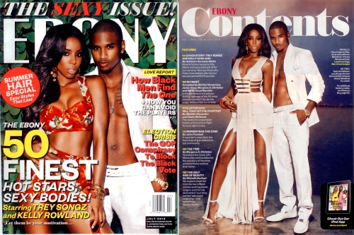 kelly rowland's look from ebony magazine cover trey songz