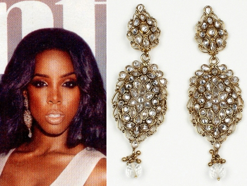 kelly rowland's earrings jewelry accessories from ebony magazine july 2012