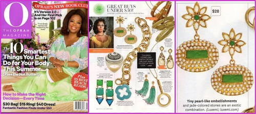 Oprah July 2012 magazine cover fantastic finds section