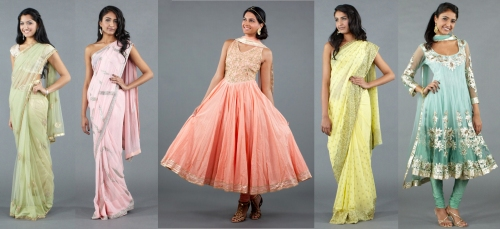 pastel colors summer runway fashion trends salwars sarees