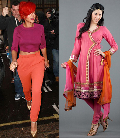 pastel colors indian inspired runway fashion summer 2012