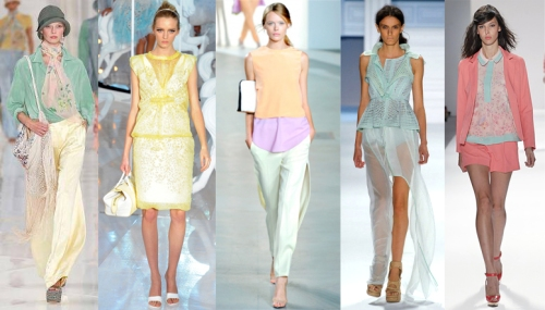 Indian inspires pastel colors runway fashion trends