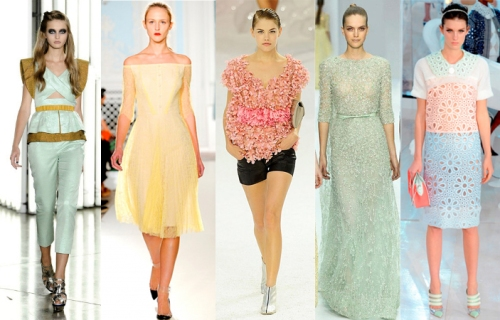 pastel color trend summer 2012 designer style indian influence