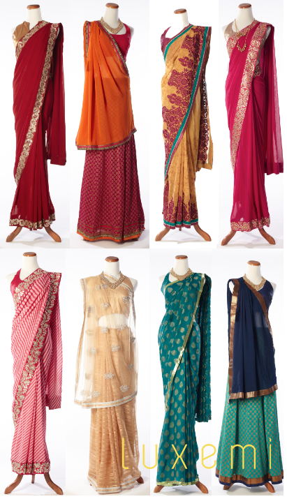 gorgeous saree sari indian wedding trends 2012