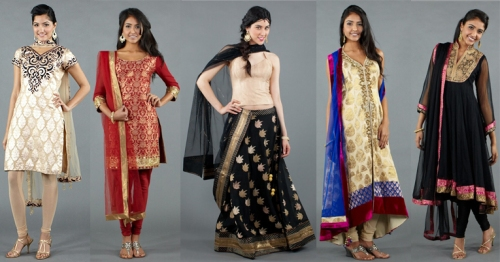 Indian runway fashion brocade salwars sarees suits