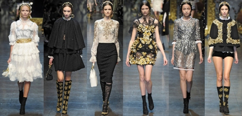 fall 2012 trends brocade lace dolce and gabbana