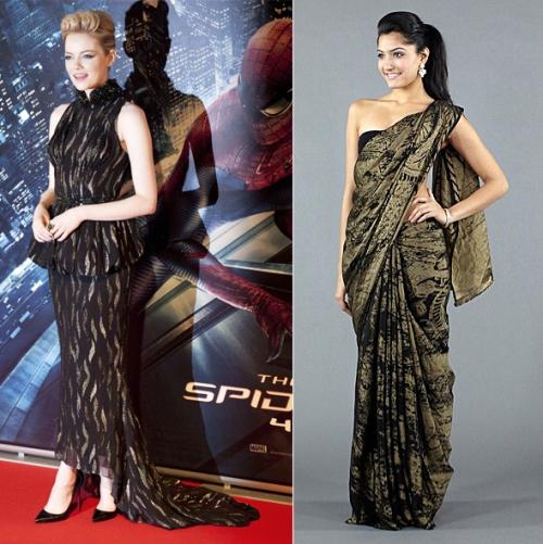 Indian inspired Emma Stone fashion