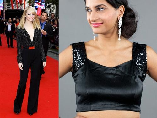 best fashion statements looks by Emma Stone