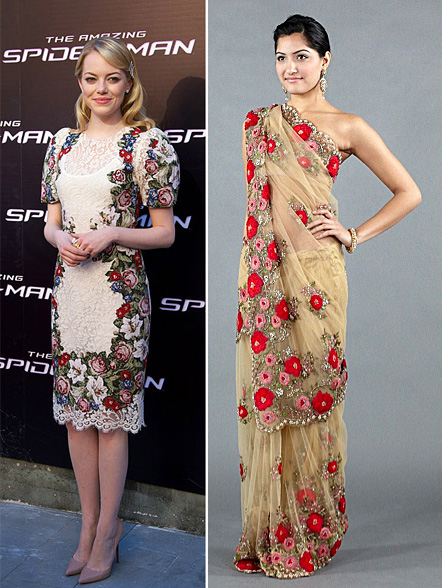 Indian fashion inspired by Emma Stone