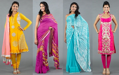 indian inspired runway fashion beyonce and solange knowles bright colored sarees saris salwars suits