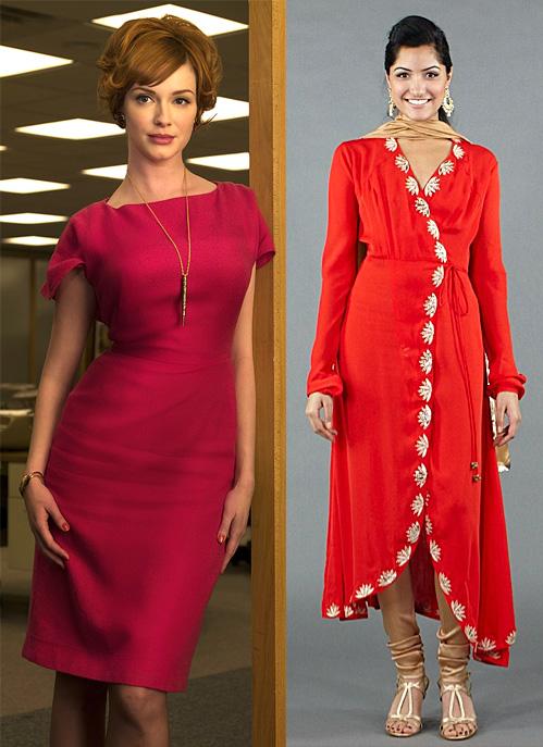 Madmen inspired Indian fashion saree salwar suit