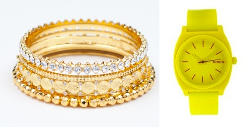 Gwen Stefani stacked bracelet watches style Settle Down music video