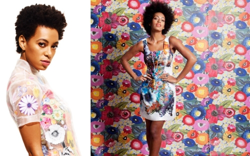 celebrity floral flower pattern trend 2012 solange vs. beyonce better style