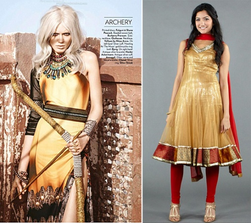 luxemi indian salwar olympics celebrity gold trend summer 2012