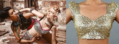 india olympic games 2012 sequin gold blouse celebrity metallic trend summer fall 2012