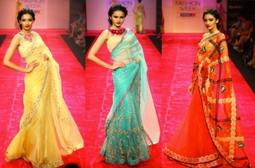 saree sari trends fall winter 2012 designer
