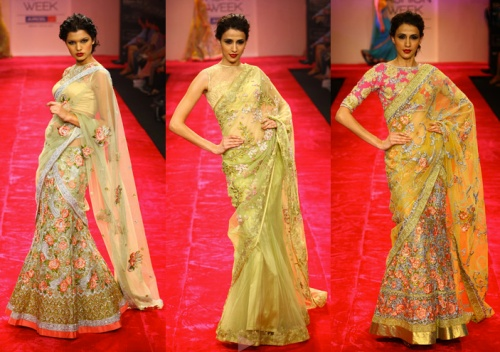 indian saree sari runway designer trends fall winter 2012